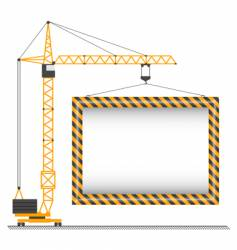 crane sign vector image vector image