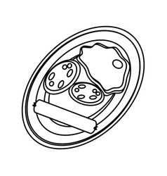 delicious bbq food vector image