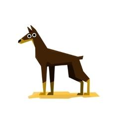 Dobermann pinscher dog vector