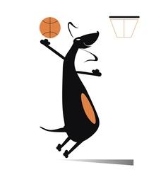 Dog a basketball player vector