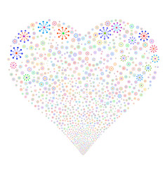 Expanse fireworks heart vector