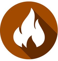 fire bonfire flame circle shape vector image vector image