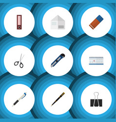 Flat icon equipment set of rubber clippers vector