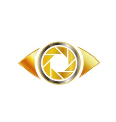 Golden eye photography logo vector