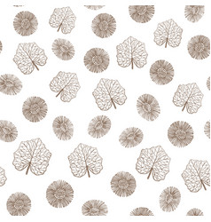 Hand drawn colored coltsfoot background vector