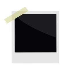 Isolated instant photo with tape in flat design vector image vector image