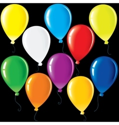 Isolated Party Balloons vector image