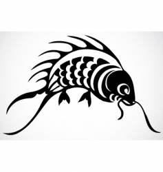 koi goldfish vector image