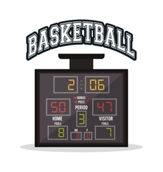 Marker of basketball sport design vector