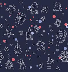 Merry christmas seamless pattern vector