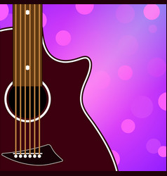 Musical banner with a guitar vector