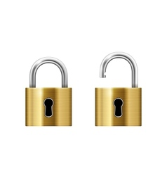 Padlock with Keyhole vector image