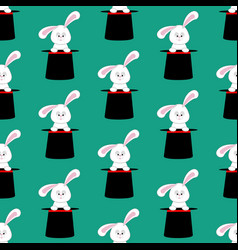 Rabbit in magic hat pattern vector