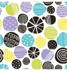 Seamless pattern with cute decoration vector image vector image