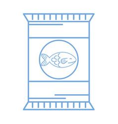 Silhouette delicious fish fillet bag food vector