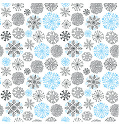 Snowflakes seamless pattern christmas and new vector