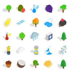 Urgent icons set isometric style vector