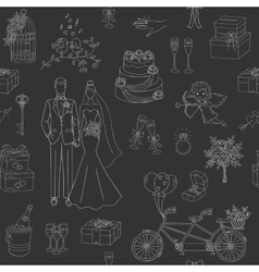 Wedding seamless background vector image
