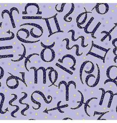 Zodiac seamless pattern vector image vector image