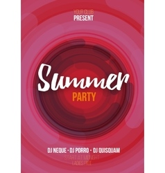 Summer party poster with abstract background vector