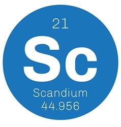 Scandium chemical element vector