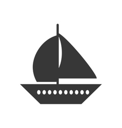 Sailboat transport isolated icon vector