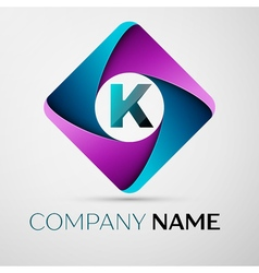 K Logo Images letter k logo symbol in the colorful rhombus vector k