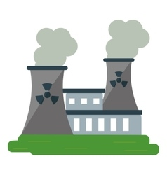 nuclear power station energy pollution vector image