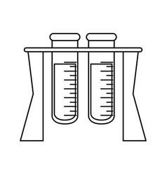 Test tube rack medicine laboratory thin line vector