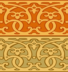 3 Set of decorative borders vintage style gold vector image vector image