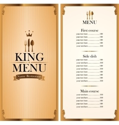 Royal king menu and price vector