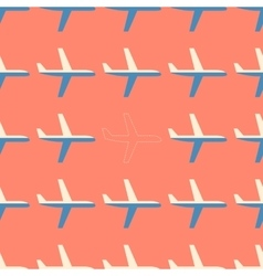 Flat styled seamless pattern with missing plane vector