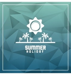 Summer design palm tree icon polygon design vector