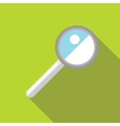 Magnifying glass icon in flat style vector