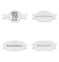 Back to school greeting banners set vector