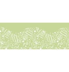 Birthday doodle horizontal seamless pattern vector image vector image