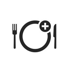black simple food ordering icon vector image vector image