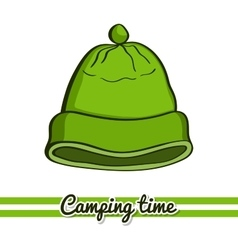 Camping equipment hat vector