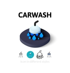 Carwash icon in different style vector