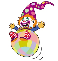 clown toy vector image vector image