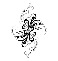 Creative shape with floral elements vector