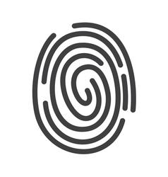 fingerprint icon2 vector image