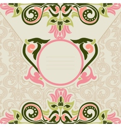 floral template vector image