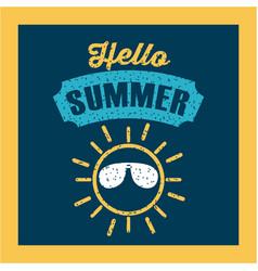 Hello summer flat vector