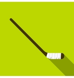 Hockey stick icon flat style vector image vector image