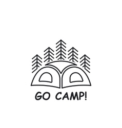 Icon or logo with tent vector image