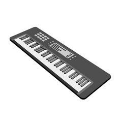Keyboard electronic musical instrument vector