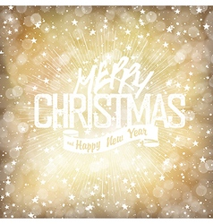 Merry Christmas Lights Background with Christmas vector image vector image