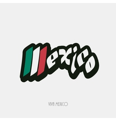 Mexico script hand lettering vector image vector image