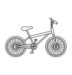 Monochrome contour of small sport bike in white vector